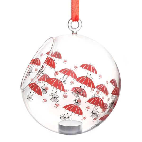 Moomin decoration balls are a stylish way to decorate your home. Place a LED or normal candle in the ball and bring the characters to life!