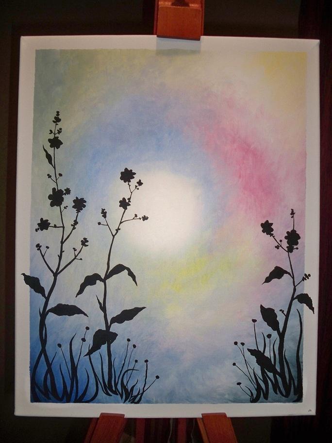 Simple acrylic painting I did last year. | Painting Ideas ...