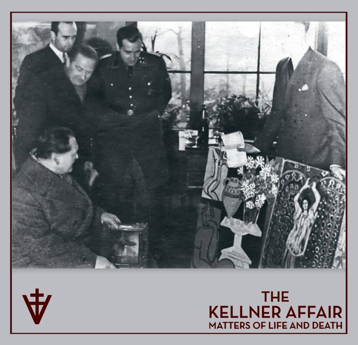 "Paris, December 2, 1941: Reichsmarschall Göring at the Jeu de Paume doing some Matisse shopping with his art advisor Walter Andreas Hofer to his left. The left painting is ""Marguerites"", and the other is ""Danseuse au Tambourin"". (Peter Larsen) The Kellner Affair #KellnerKickoff"