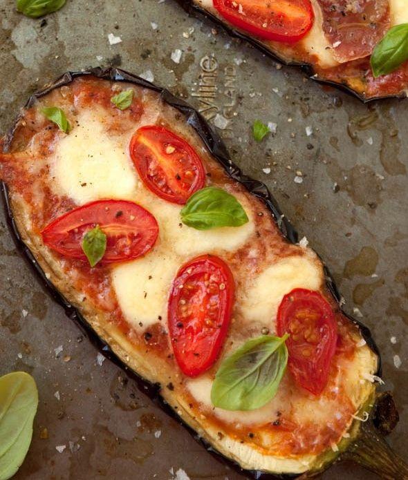 Ψητή μελιντζάνα σαν πίτσα(pizza)
