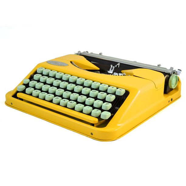 A typewriter to write my life story. Also I've always dreamed of being a famous writer.