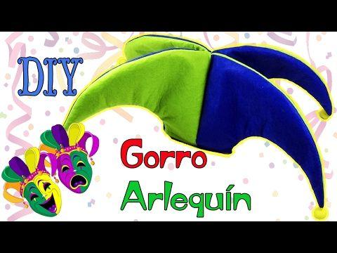 DIY Gorro de Arlequín - Bufón  Ecobrisa DIY - YouTube