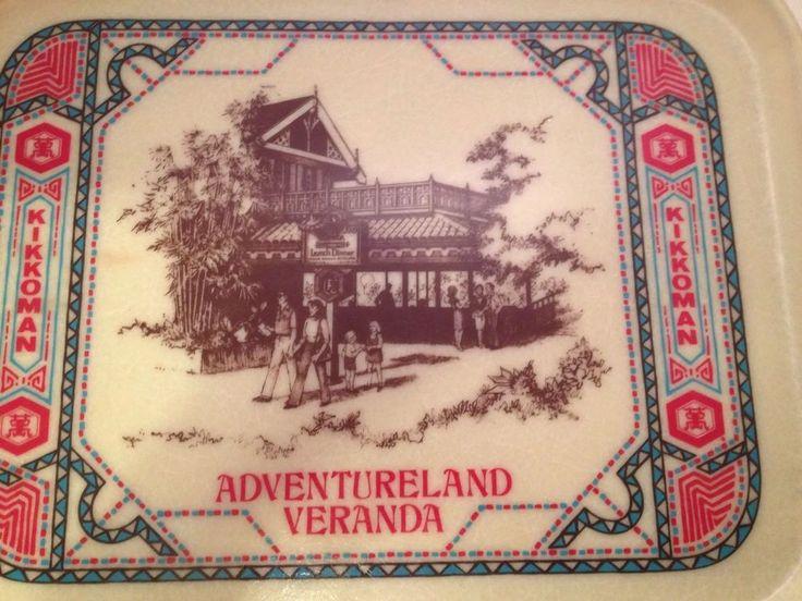 Disney World Adventureland Veranda Restaurant Rare Retired Food Service Tray #Disney #AdventurelandVeranda
