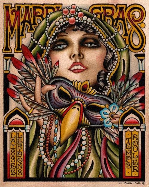 Mardi Gras #illustration***Research for possible future project.