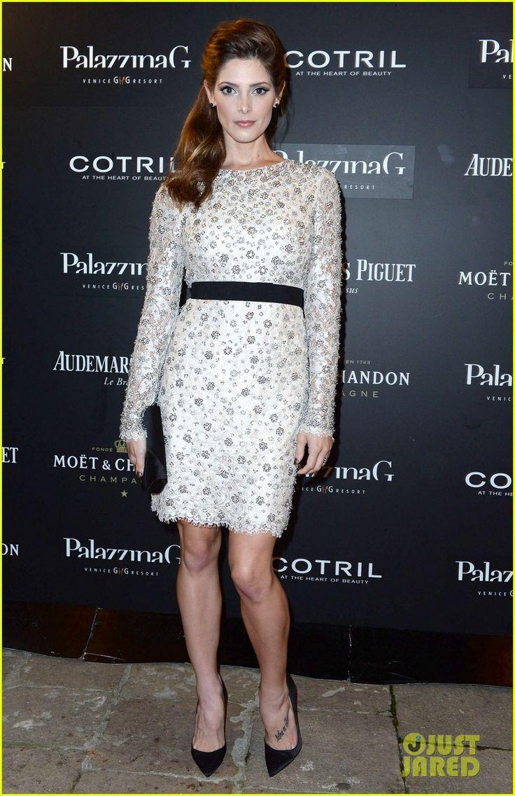 Ashley Greene in an Emilio Pucci dress and Jacob & Co. stud earrings.