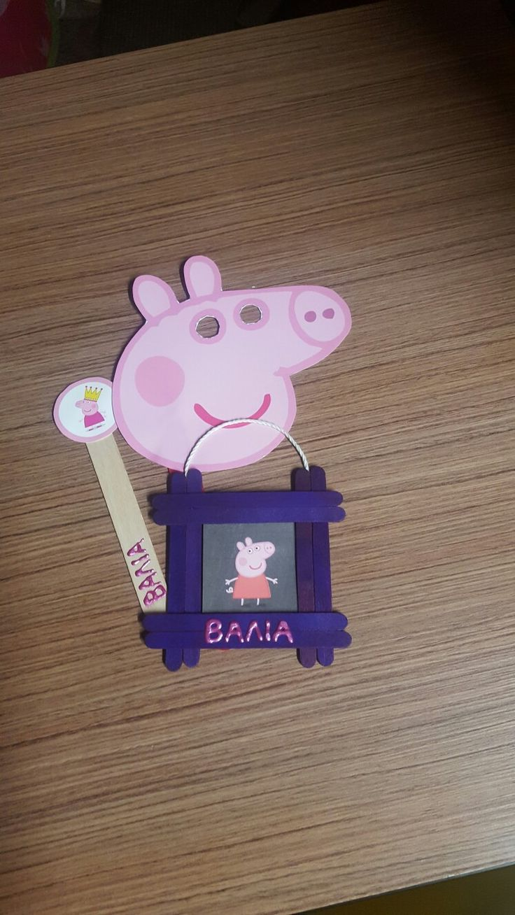 Peppa pig birthday party craft gifts