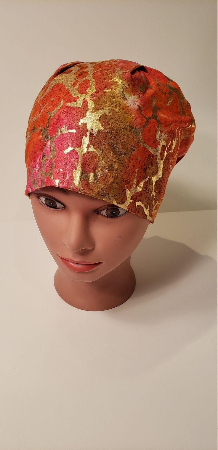 Sundown Lava Lamp Euro scrub cap, euro scrub hat, surgical hat, nurse, chemo, vet, surgical cap, chef, OR caps, womens scrub hat, cotton