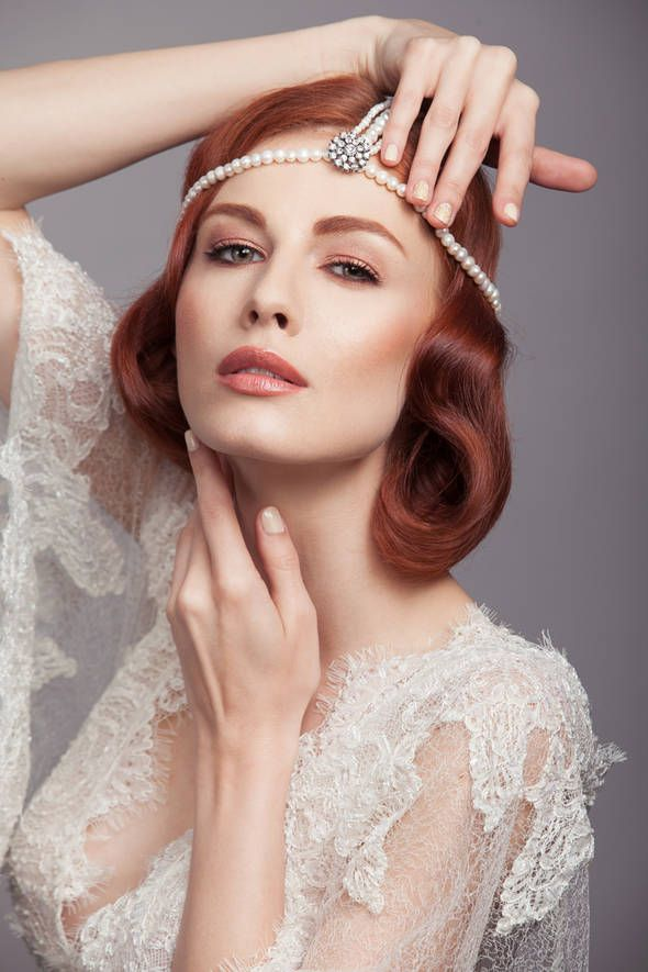 "Pictorial ""Fii speciala in ziua nuntii"" - ele.ro Styling: Milona Rac-Hristov  Headpiece: ""Glamour Heads"" from ""Ana Morodan for Statement Jewelry"" Collection"
