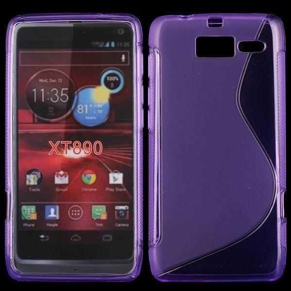 S-Line Läpikuultava (Violetti) Motorola RAZR i Suojakuori
