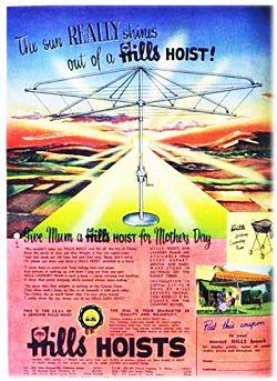 Hills Hoist advertising!