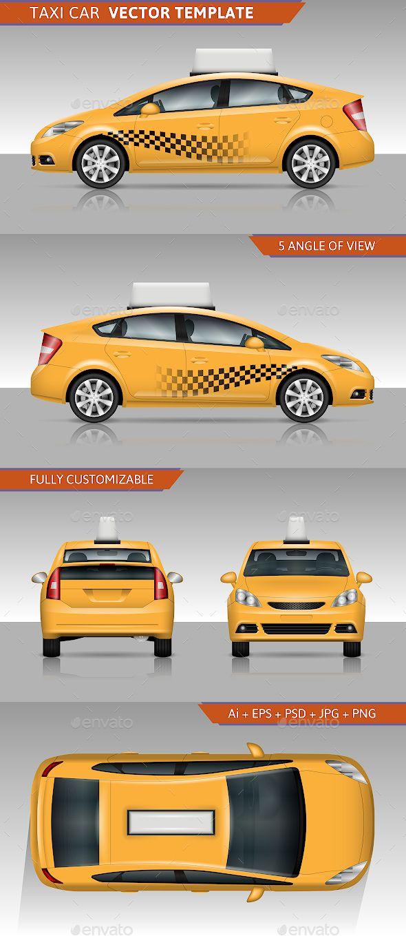 Taxi Car Vector Template Car Vector City Car Car