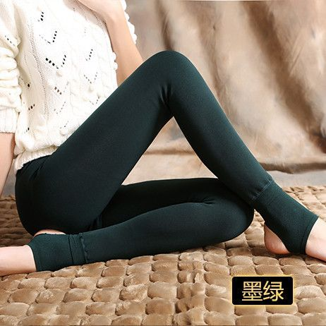 2017 elastic plus velvet women's autumn and winter high waist skin color incarcerators legging trousers thickening step one