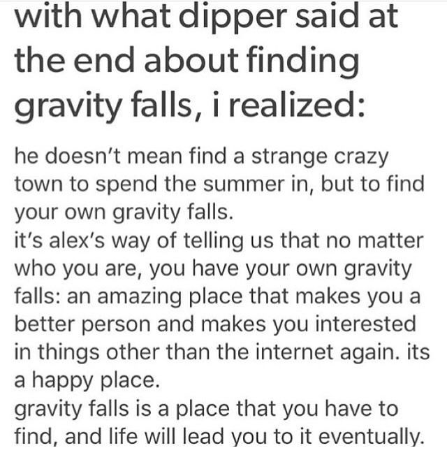 *Crying continues*<<<I'm very sorry guys *cries*<<< I'll be able to find my own gravity falls once we get into our new house. *starts aggressively crying*