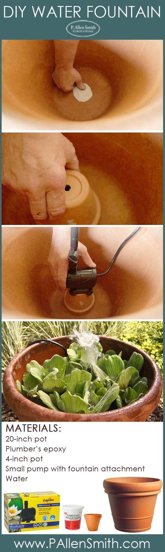 DIY water fountain  Allen's Blog - P. Allen Smith Garden Home