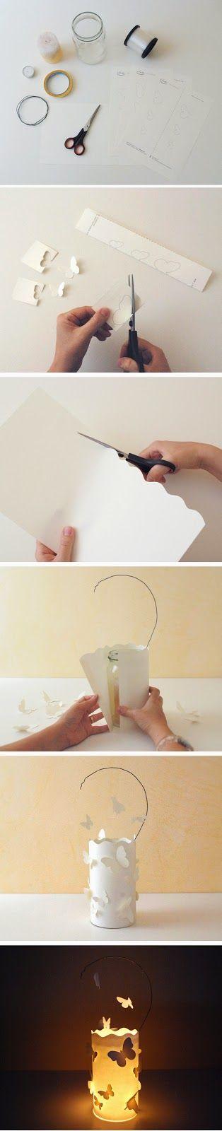 paper lantern, butterfly, lanterne con le farfalle