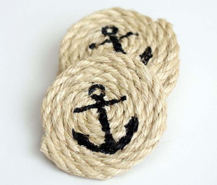These super simple coasters will protect your table and add a nautical touch to any room.