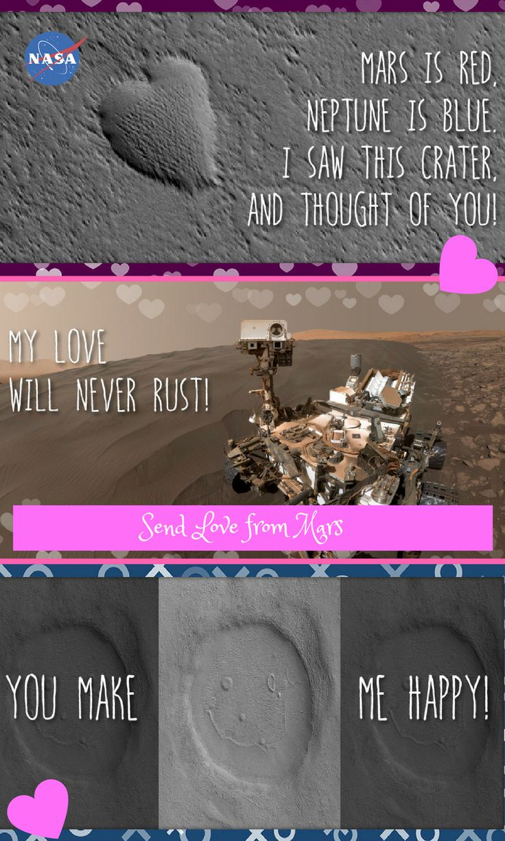 Send Valentine's Day Greetings From Mars: Choose an e-card design to send an electronic greetings to your valentine. Science valentines. E valentine. e-valentines. ecards. e-cards.