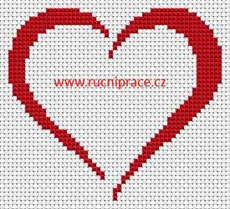 Heart, free cross stitch patterns and charts - www.free-cross-stitch.rucniprace.cz