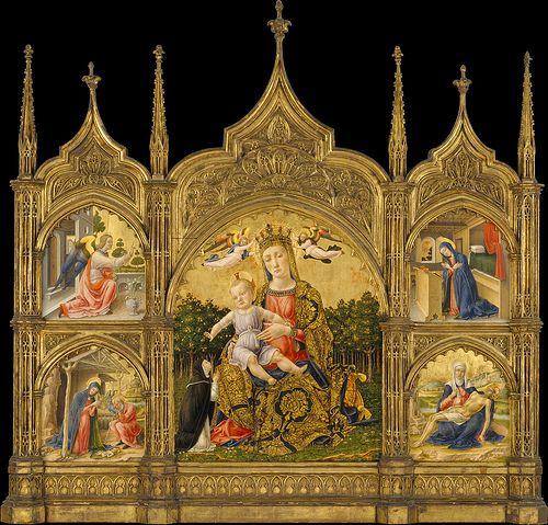 Bartolomeo Vivarini - Annunciation (1465)