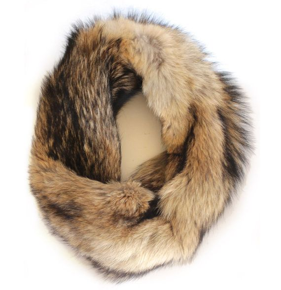 COYOTE FUR INFINITY SCARF Nothing beats genuine fur for warmth and a luxurious feel! This infinity scarf is made from real coyote fur and