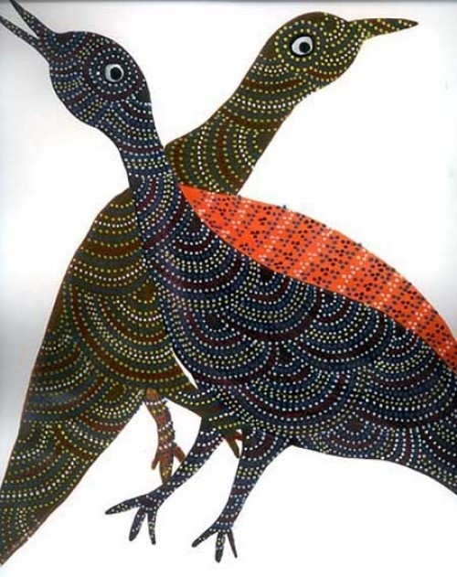 Pair of Birds, Gond, India
