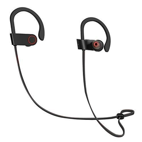 ICONNTECHS IT Wireless Headphones Bluetooth Earbuds Sweatproof In Ear Secure Fit Earphones Loud Bass Noise Reduction with Mic for iPhone Android for Sports Running Jogging Boxing Gym Training (Black)