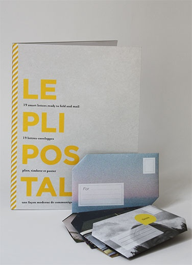 The Pli Postal collection. Fold, stamp, mail.