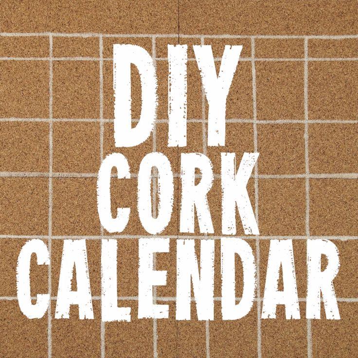 DIY Corkboard Calendar