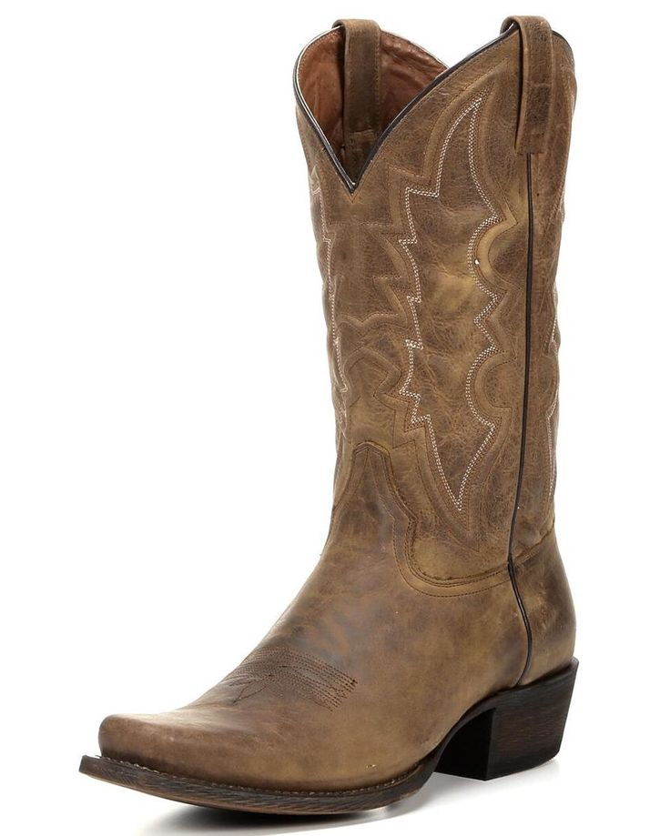 American Rebel Boot Company | Men's Houston Square Toe Cowboy Boot - Light  Oak | Country