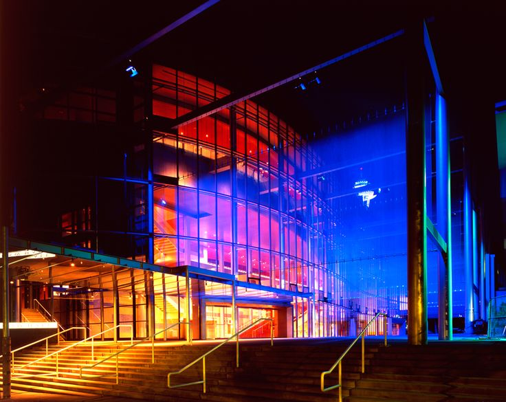 Marion Oliver McCaw Hall featuring Cascade Coil wire mesh architectural panels.