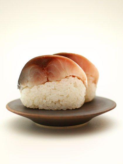五島列島天然鬼鯖寿司(Pressed mackerel sushi)