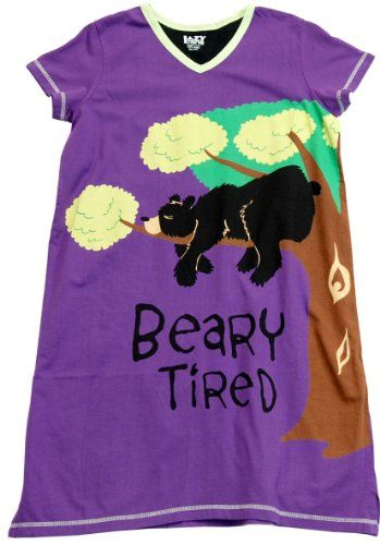 Beary Tired Nightshirt LazyOne Leisure Wear