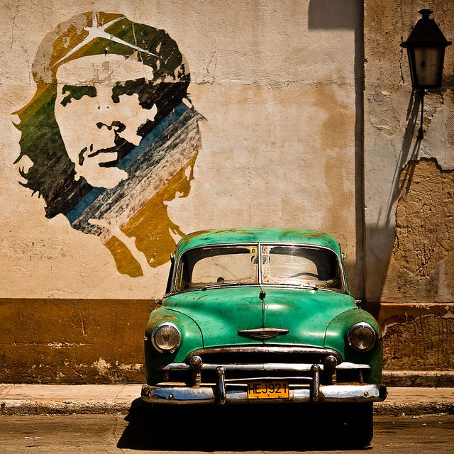 A wall painting of Che Guevara in Havana Cuba