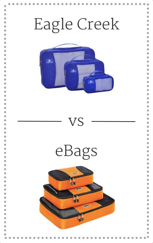 Eagle Creek vs eBags Packing Cubes
