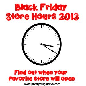 black friday store hours 2013