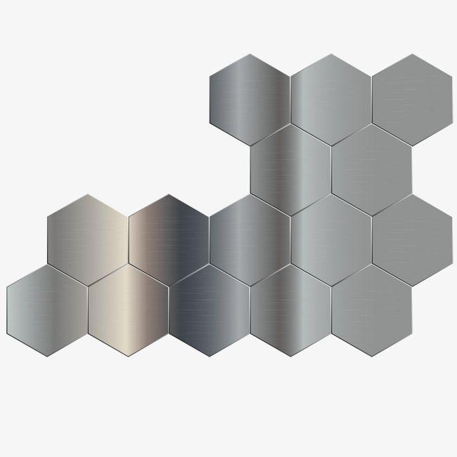 Metal Hexagon Geometric Mosaic Background Hexagon Vector