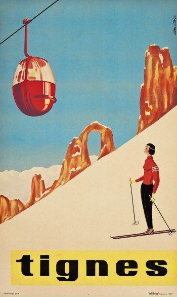 Vintage Travel Posters on Auction at Christie's in London | Jean Clerc…ღ.reépinglé par Maurie Daboux웃