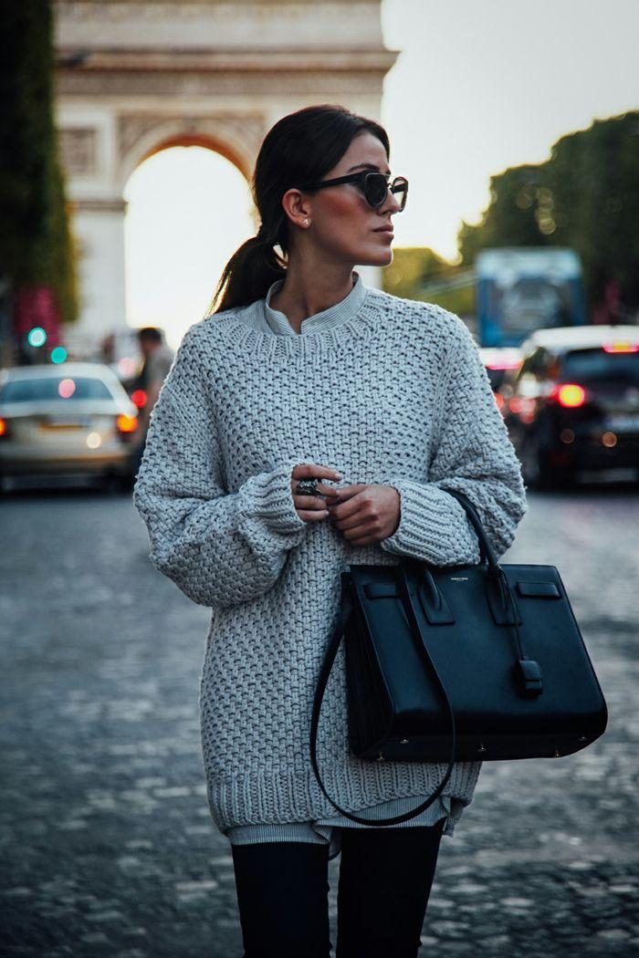 1001 Idees Et Tenues Avec Le Pull Oversize Pour Femme Mode
