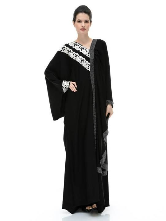 The Rima, white lace accents and black sparle trim
