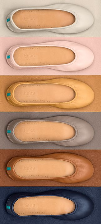 Keep your wardrobe fresh with these six classic styles! | Tieks Ballet Flats want every color