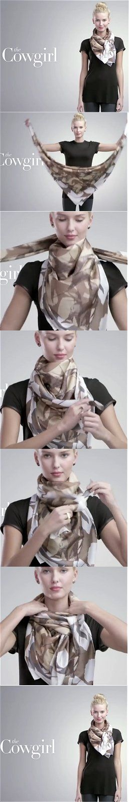 Nordstrom Cowgirl Scarf Tutorial You Tube                                                                                                                                                                                 More