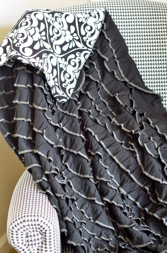 need to make one of these ruffle blankets. with pre-ruffle fabric.