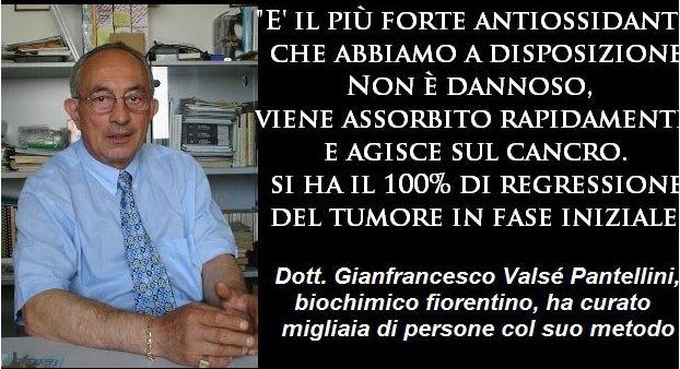 """Dott Pantellini: """"Ecco la ricetta miracolosa contro e per prevenire il cancro che non costa nulla"""""""