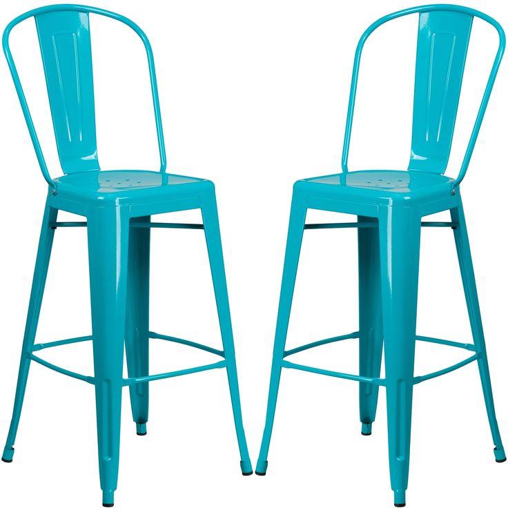 1000 ideas about bar stool height on pinterest oak bar stools bar stools and stools - Teal blue bar stools ...