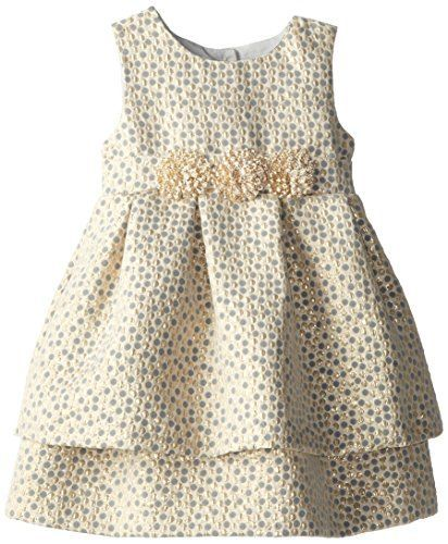 Pippa & Julie Little Girls' Brocade Party Dress, Gold, 3T Pippa & Julie
