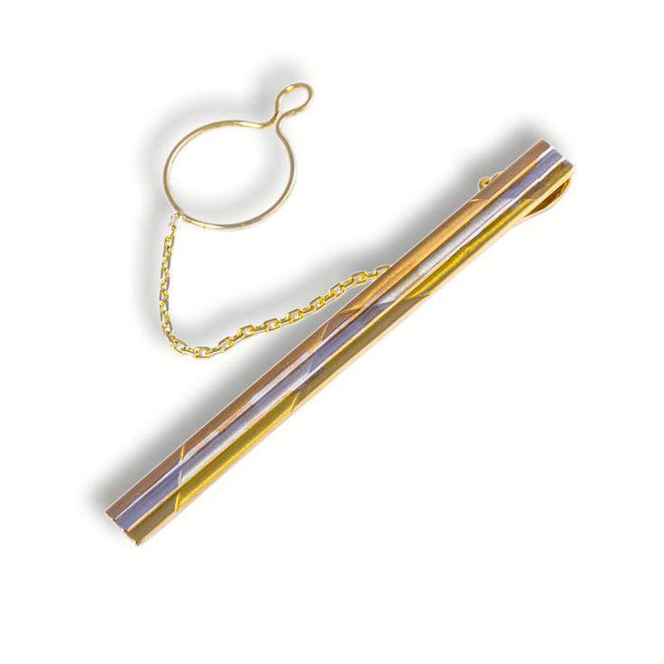 Zlatá pánská kravatová spona