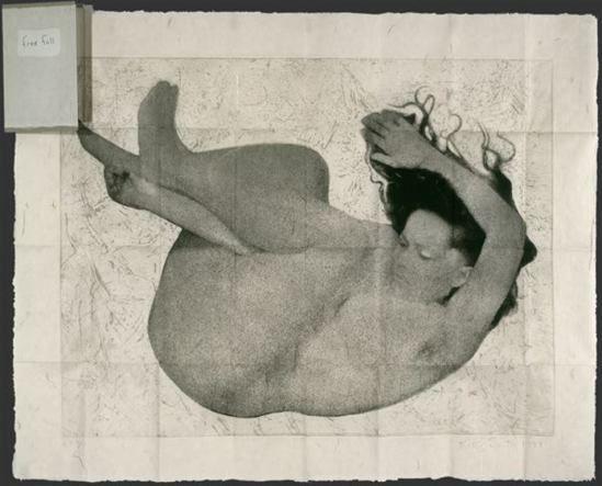 Kiki Smith. Free fall 1994. Photogravure, etching, and sanding