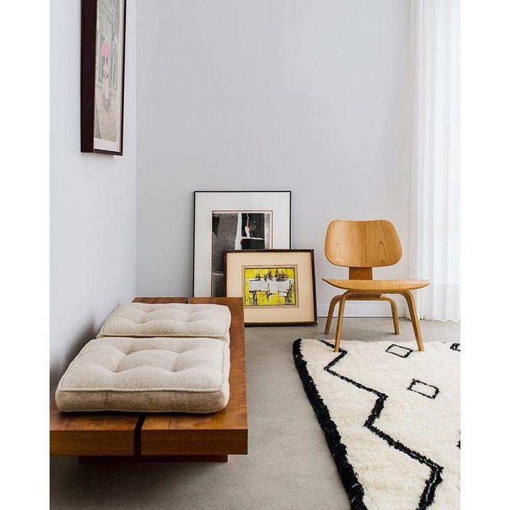Minimalist Colorful Rug Designs: Minimalist Apartment Decor, Statement Rug, Wooden Chair
