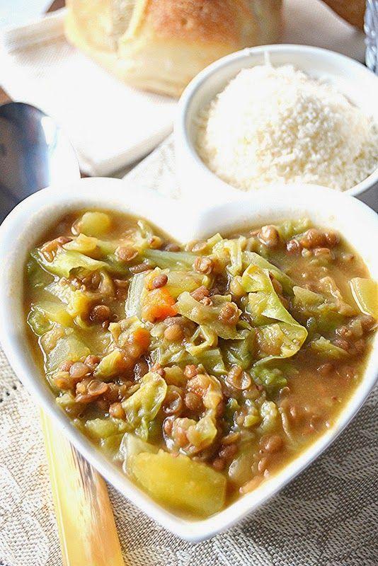 Dolci a go go: Light con gusto- Zuppa di lenticchie patate e verza profumata allo zafferano