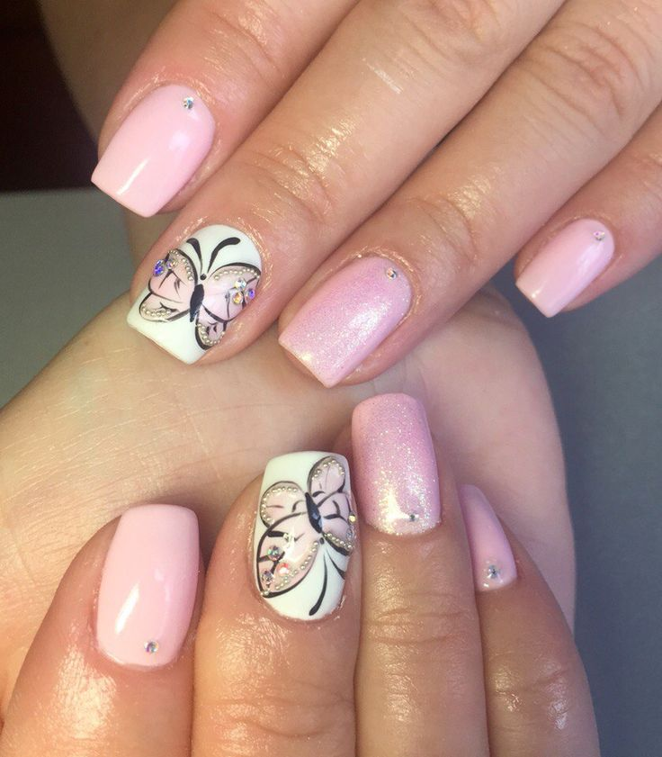 butterfly nail design nails
